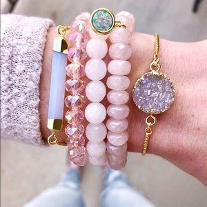 Gold Druzy Bolo Bracelet